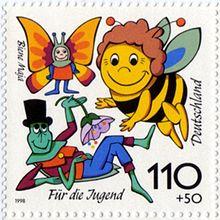 sello-de-correos-alemc3a1n-cuyo-motivo-es-la-serie-de-dibujos-animados