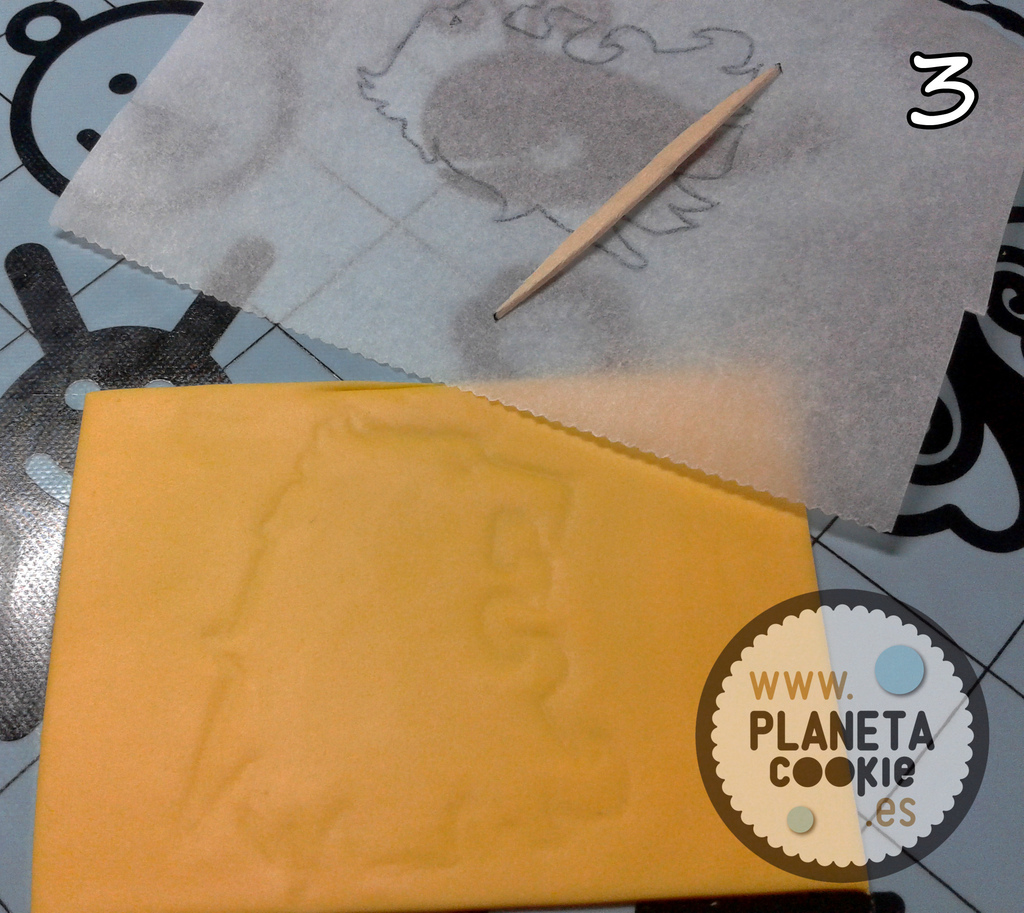 Usar plantillas en fondant planeta cookie for Papel para dibujar
