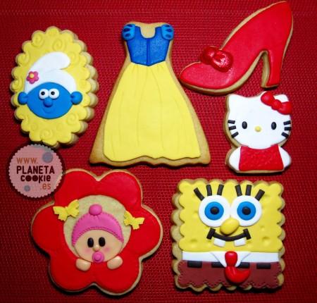 Algunos diseños de galletas infantiles