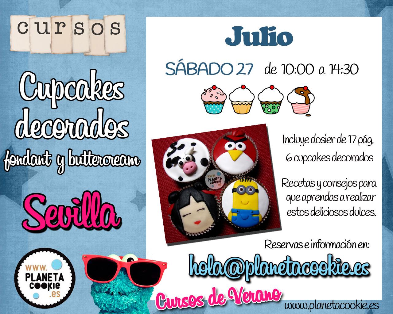 Cursos de Cupcakes decorados en Sevilla | Planeta Cookie