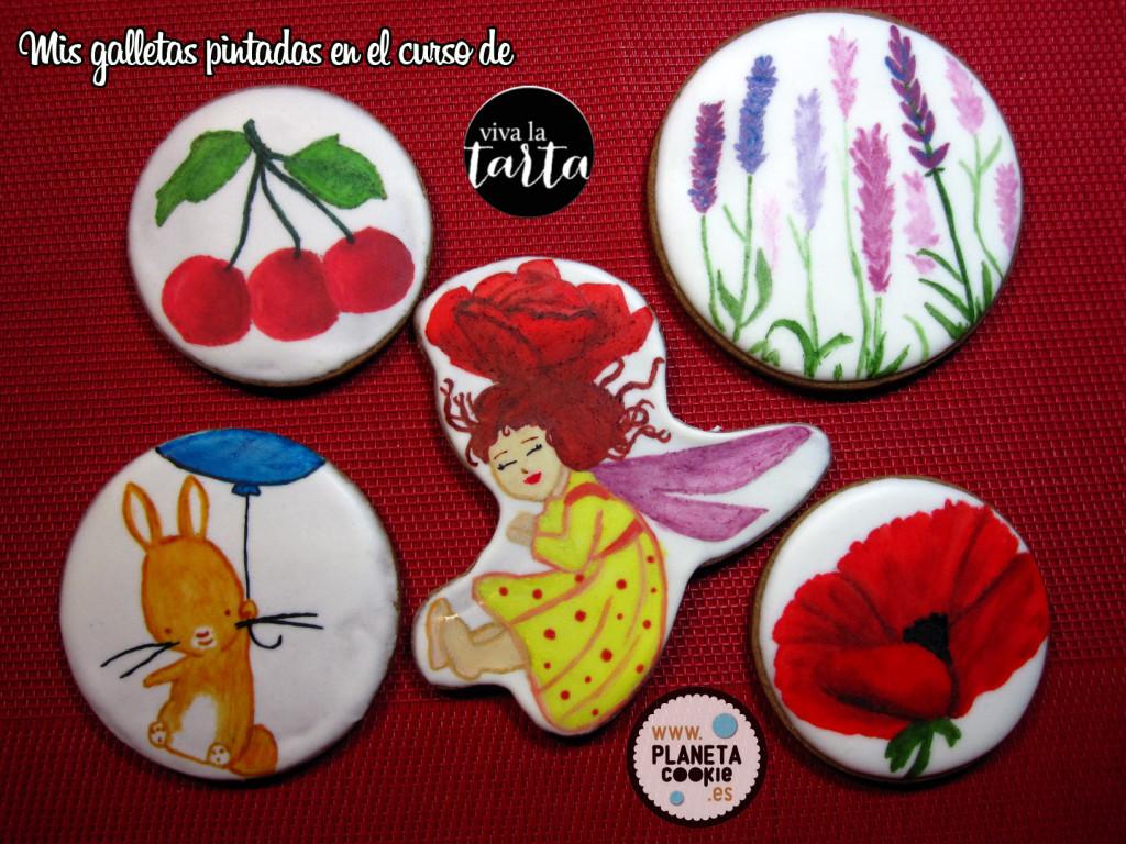 Galletas pintadas en el taller de Viva la Tarta