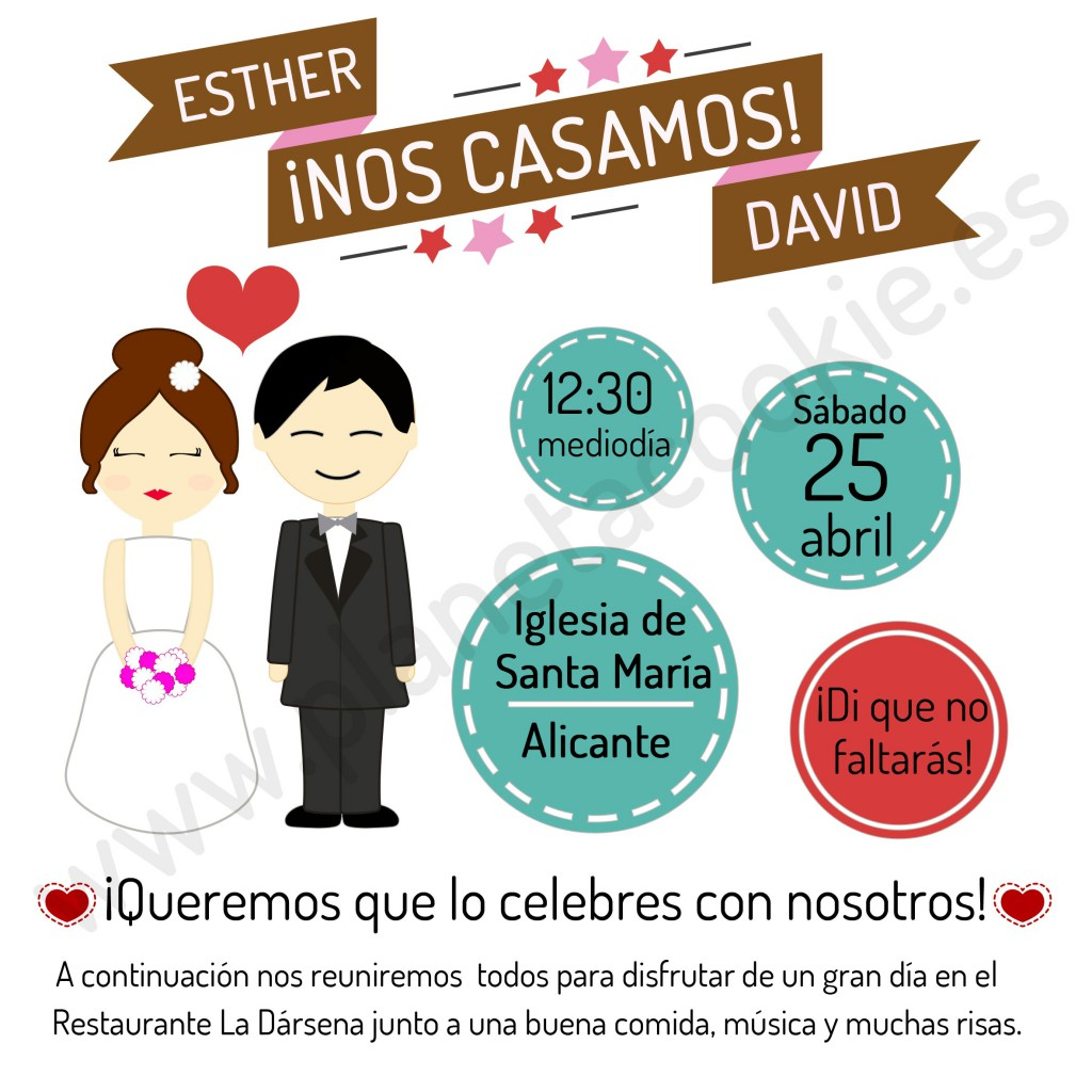 invitacionesboda-galleta