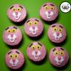 Cupcakes Pantera Rosa (Red Velvet con Buttercream de Nesquik de Fresa rellenos de Nocilla)