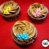 Cupcakes de chocolate con buttercream de nocilla/nutella