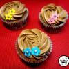 Cupcakes de chocolate con buttercream de nocilla/nutella