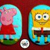 Galletas Peppa Pig y Bob Esponja